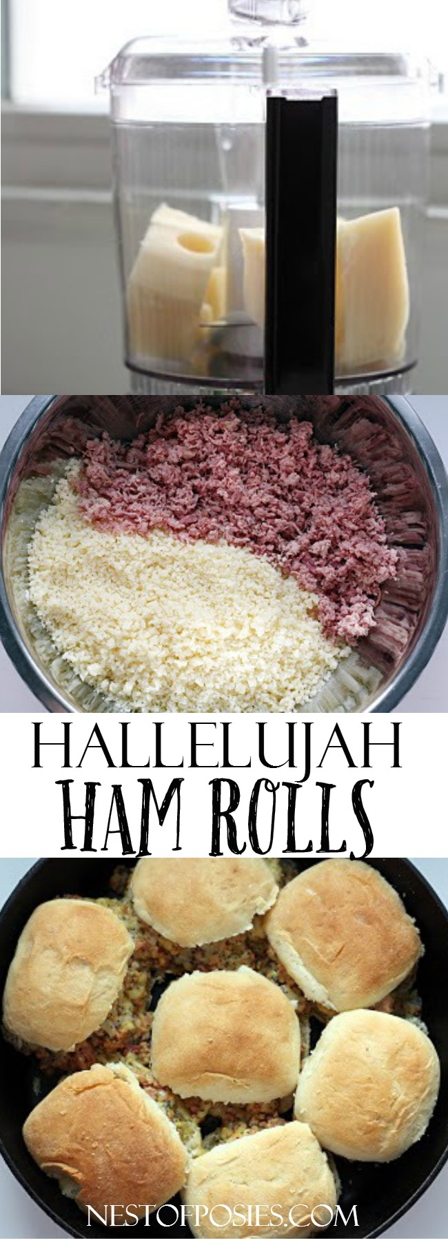 Hallelujah Ham Rolls - the perfect thing to make with your leftover ham!  They are so good, warm & melt in your mouth