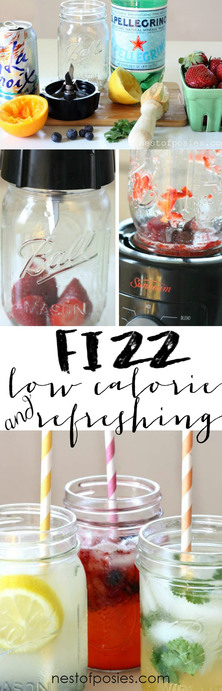 FIZZ.  A low calorie and refreshing drink made from fresh & easy ingredients