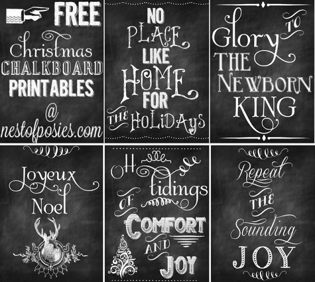 5 Free Christmas Chalkboard Printables to Deck your Halls ...