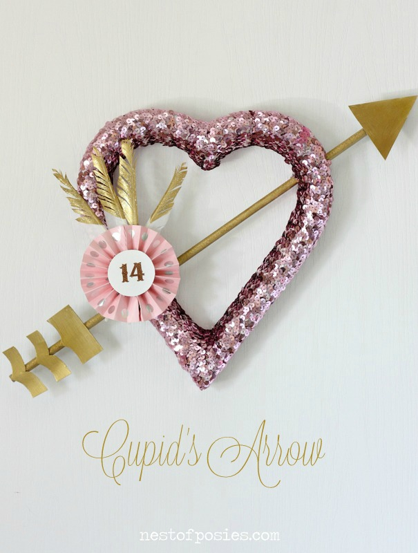Cupid's Arrow Wreath via Nest of Posies