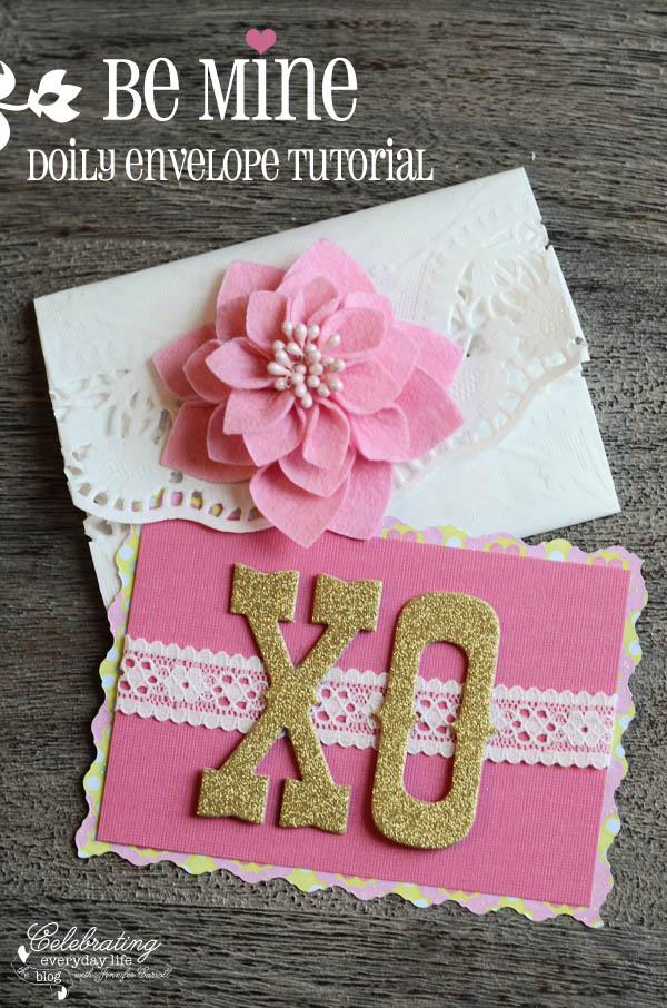 Valentine Doily Envelope