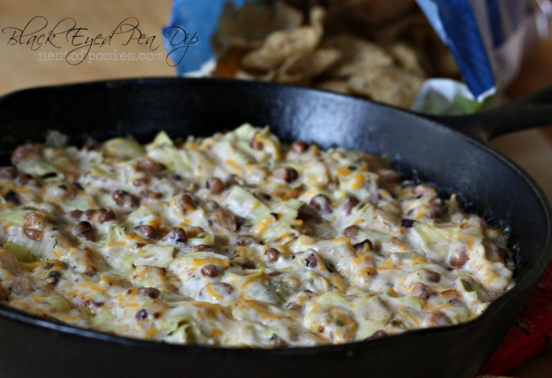 Good Luck Black Eyed Pea Dip via Nest of Posies