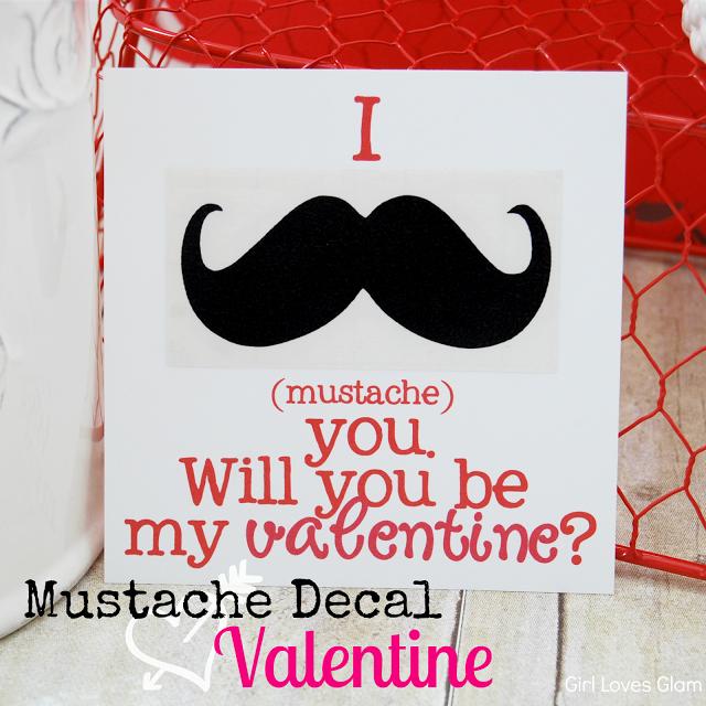 Mustache Printable Valentine