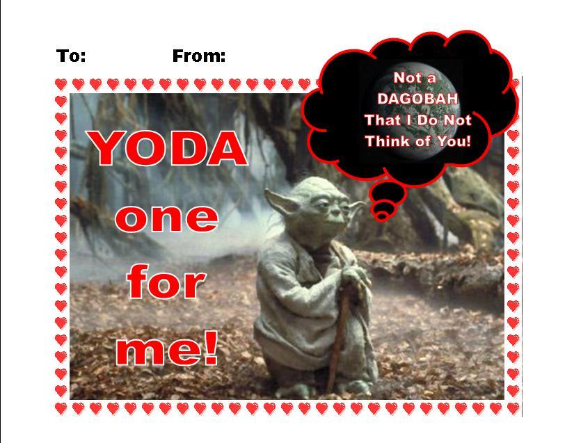 Star Wars Yoda Valentine