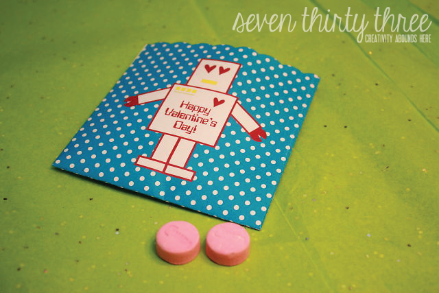 Robo Love Treat Bag Valentine