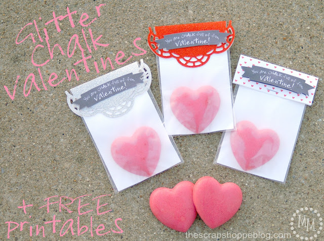 Glitter Chalk Valentines