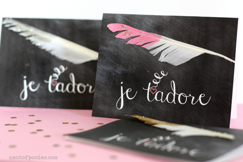 French Chalkboard Valentines a Valentine Link Party Nest of – French Valentines Cards