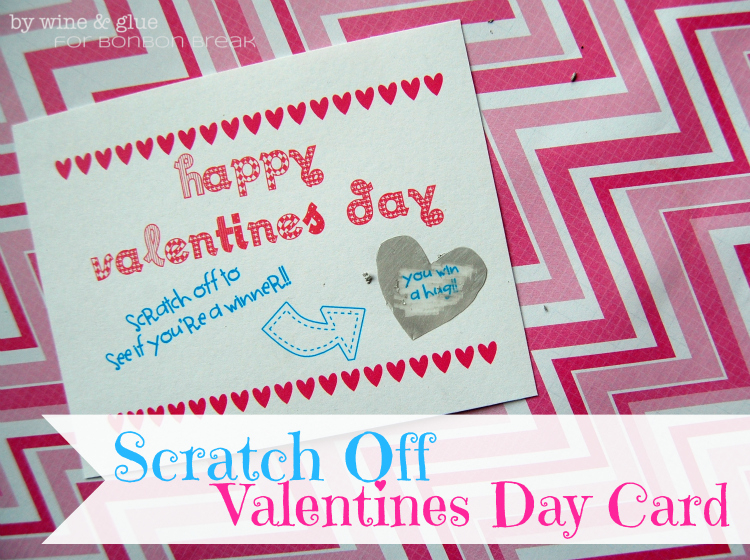 Scratch Off Valentine Day Cards