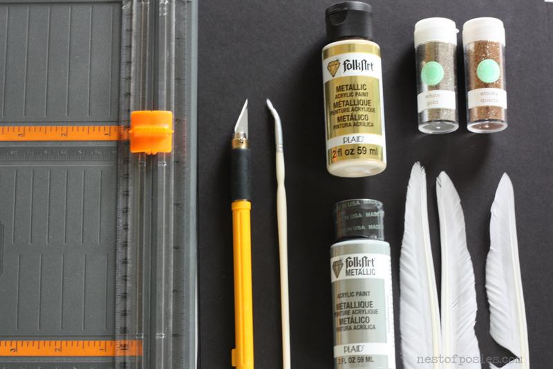 supplies to make Valentine cards