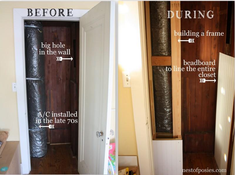 Old cedar closet revamp
