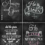 Easter Chalkboard Printables via Nest of Posies