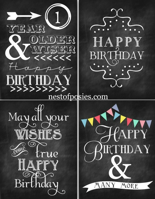 37 birthday printables cakes and a giveaway yellow bliss road. Black Bedroom Furniture Sets. Home Design Ideas