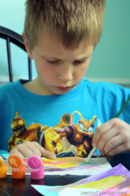 painting watercolor valentines via Nest of Posies