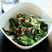 Hot Spinach Salad a #springdetox via @nestofposies