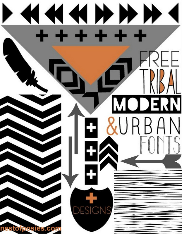 Dlolley shelp free tribal modern amp urban fonts digital designs