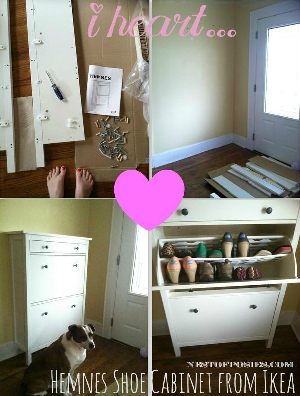 Hemnes Shoe Cabinet from Ikea via Nest of Posies