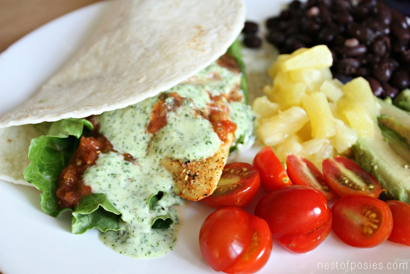Cilantro lime pineapple dressing sauce all you 39 ll for Pineapple sauce for fish