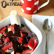 Banana Split Oatmeal via Nest of Posies