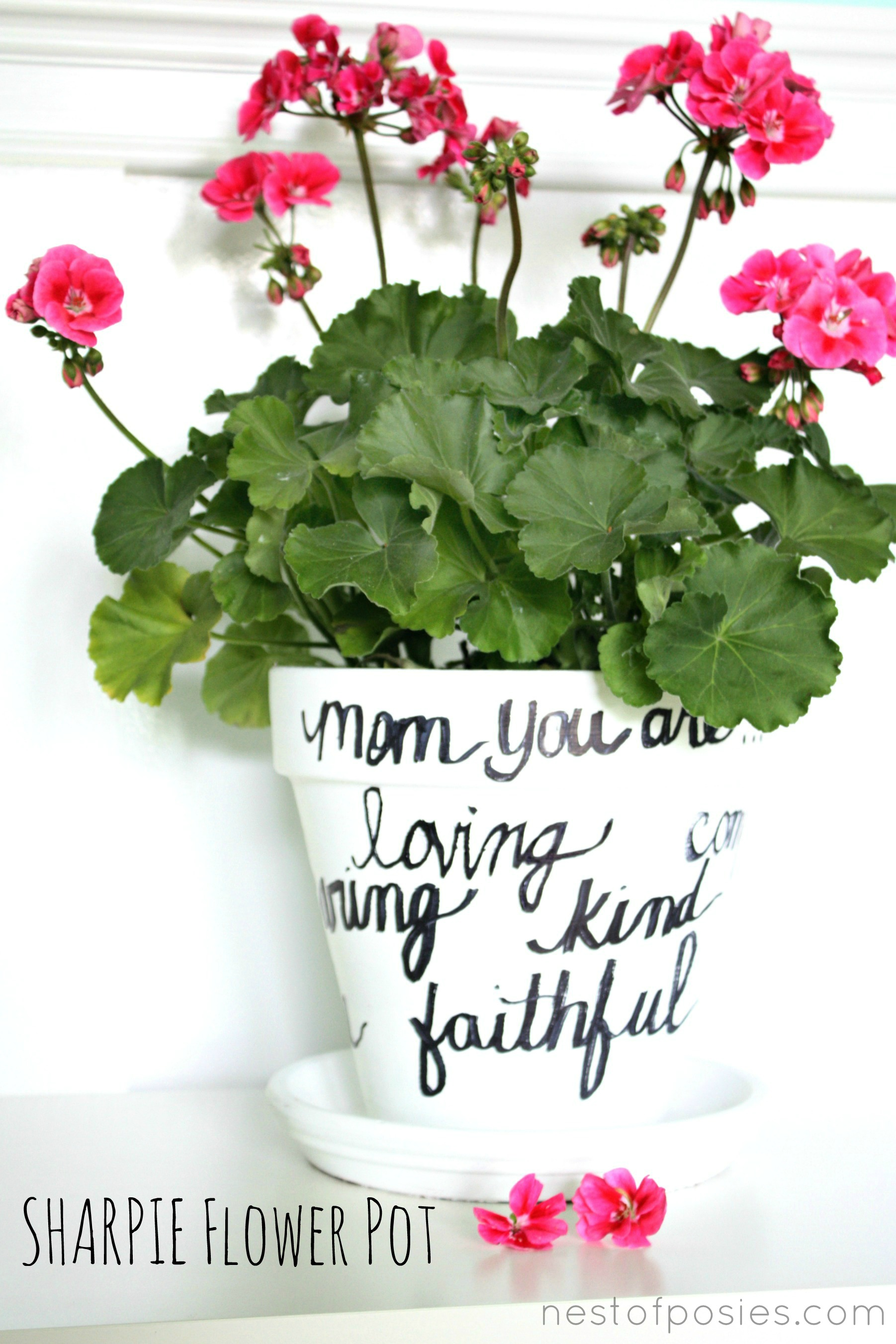 Make A Sharpie Flower Pot For Mom Quick Easy Beautiful