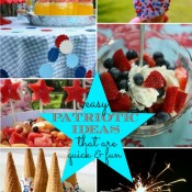 Easy Patriotic Ideas that are quick & fun via Nest of Posies