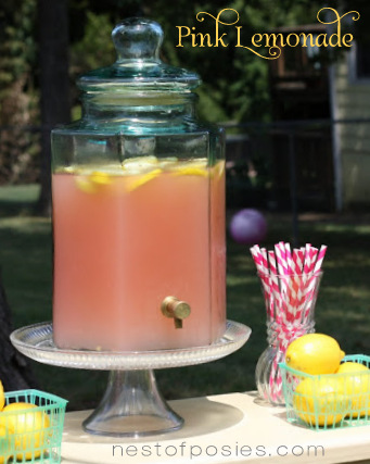 Pink Lemonade via Nest of Posies