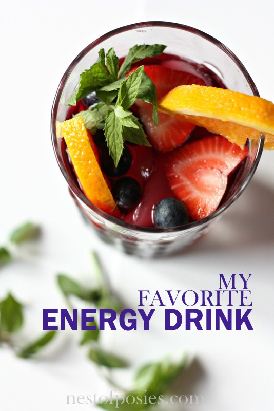 My Favorite Energy Drink for an afternoon pick-me-up!  via Nest of Posies