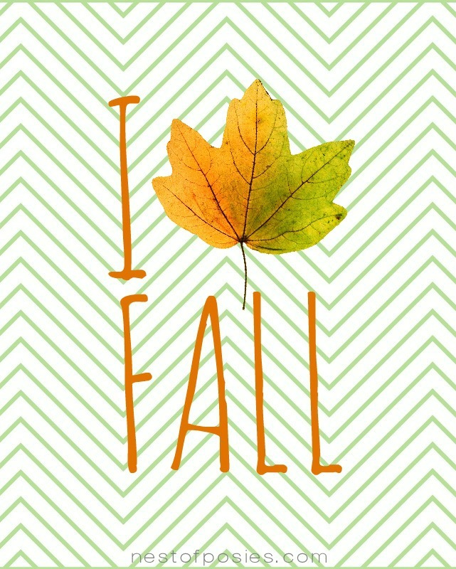 I Love Fall Printable via Nest of Posies