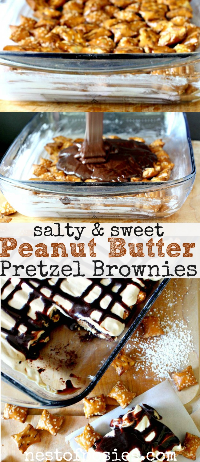 Sweet And Salty Brownies Recipe — Dishmaps