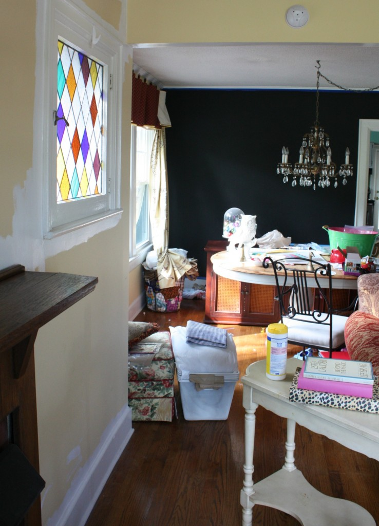 Creating Chaos & painting a wall Black via Nest of Posies