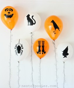 DIY Halloween Silhouette Balloons and a Costume Contest!