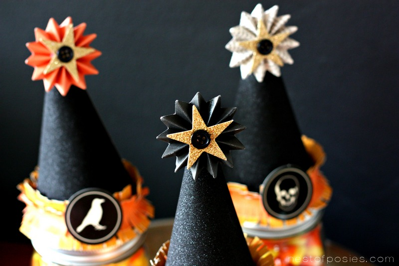 Halloween Witch Hat Pinwheel Hats