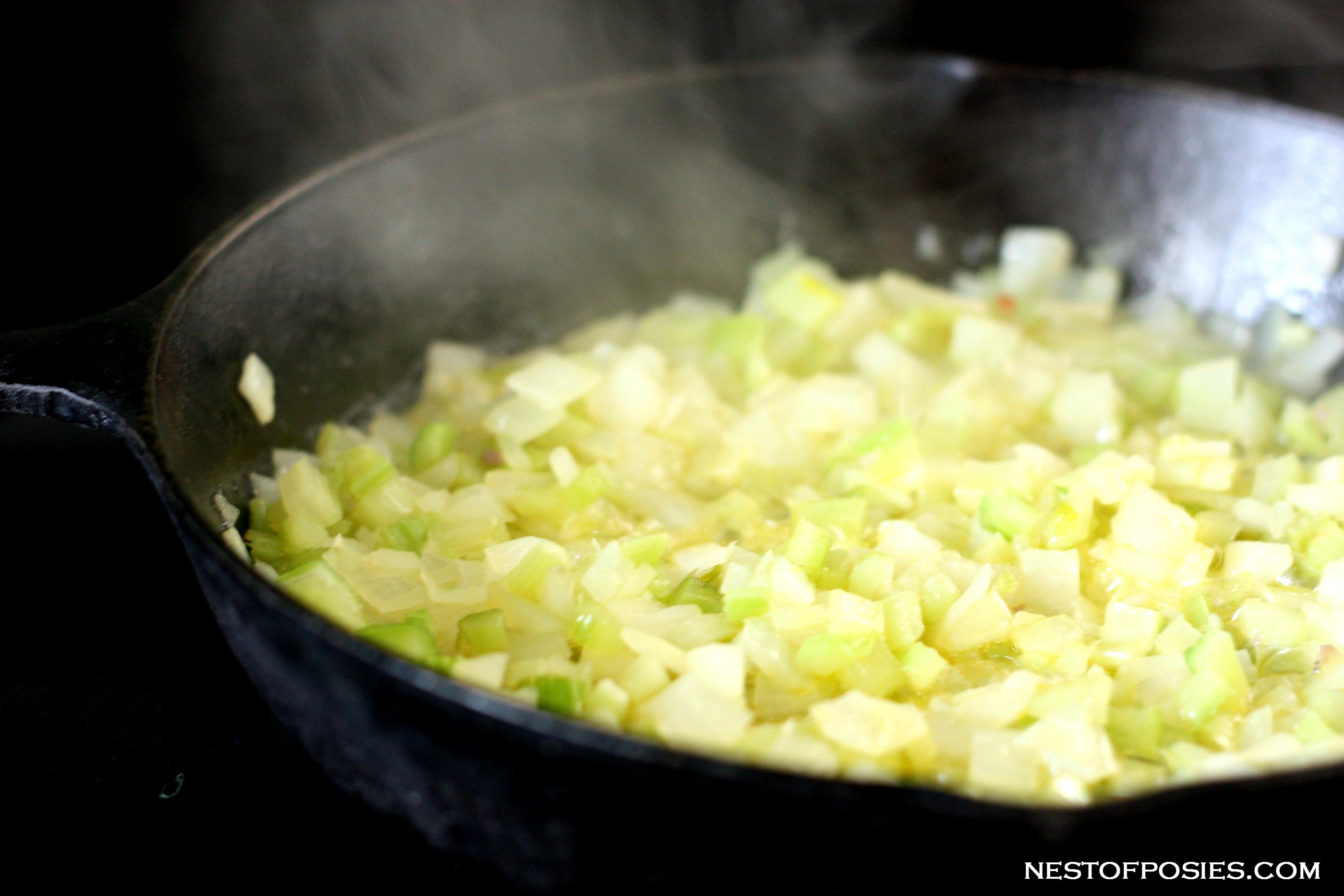 making sausage stuffing