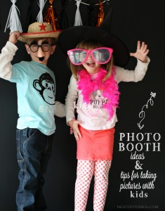 Photo Booth Ideas & tips for taking pictures with kids