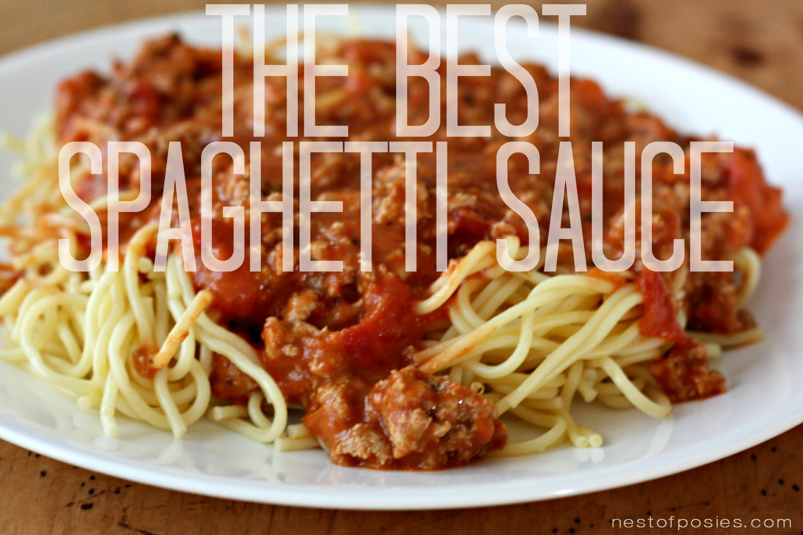 The Best Spaghetti Sauce Recipe {Semi homemade}