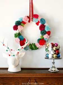 Pom Pom and Posie Wreath and the #HolidayIdeaExchange Party