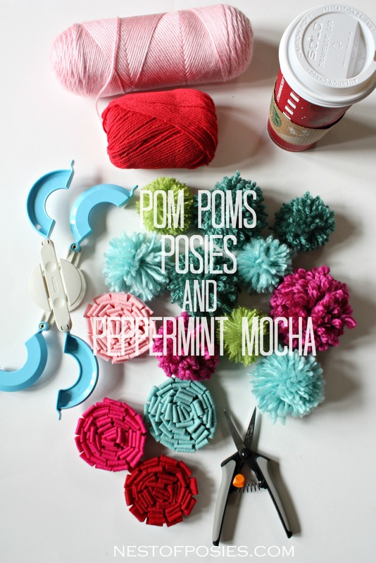 Pom Poms Posies and Peppermint Mocha