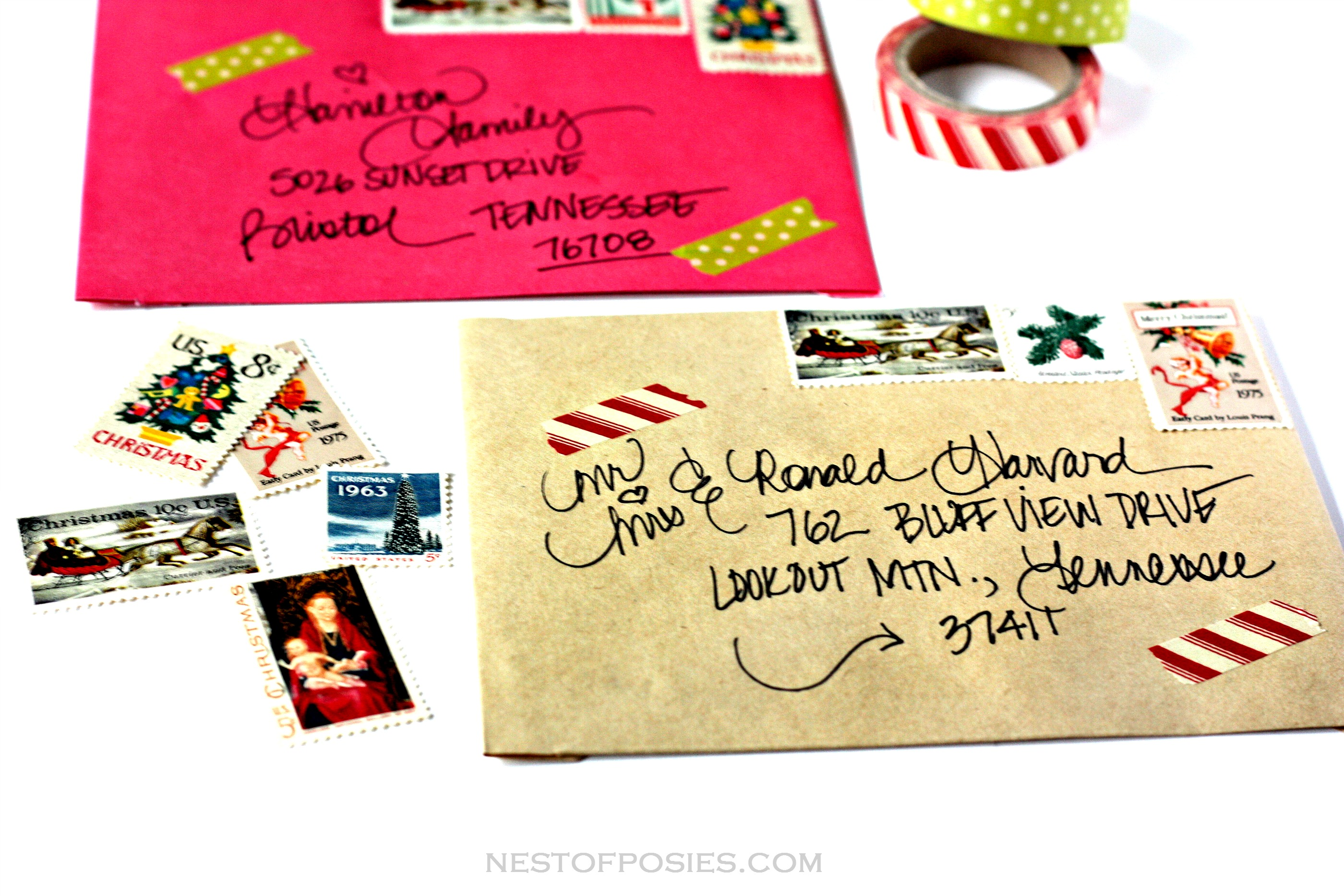 Addressing Christmas Envelopes