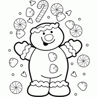 christmas gingerbread coloring page - Christmas Coloring Page
