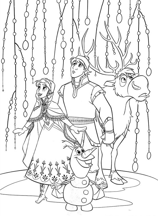 christmas coloring pages - Sven Reindeer Coloring Pages