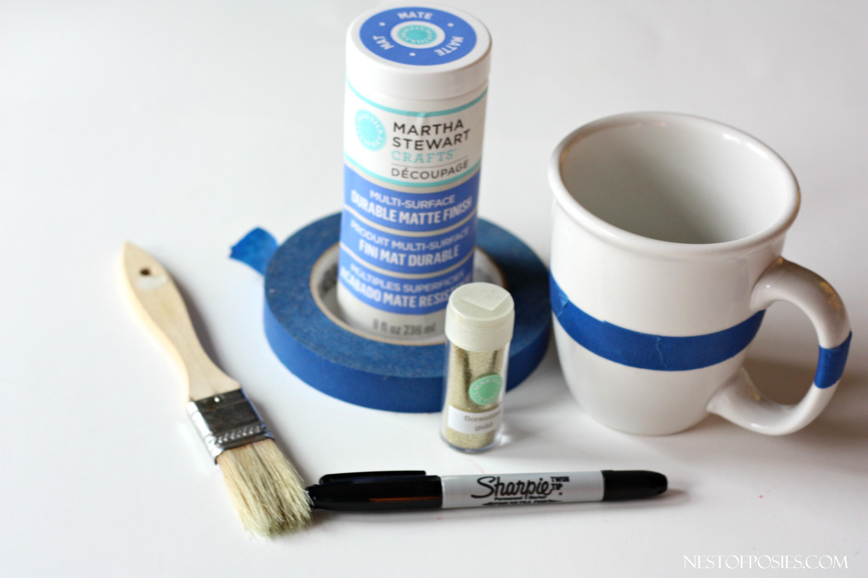 How to make a glitter mug