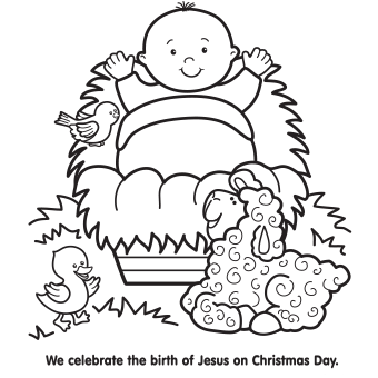 Christmas Coloring Pages Coloring Pages Of Baby Jesus In A Manger