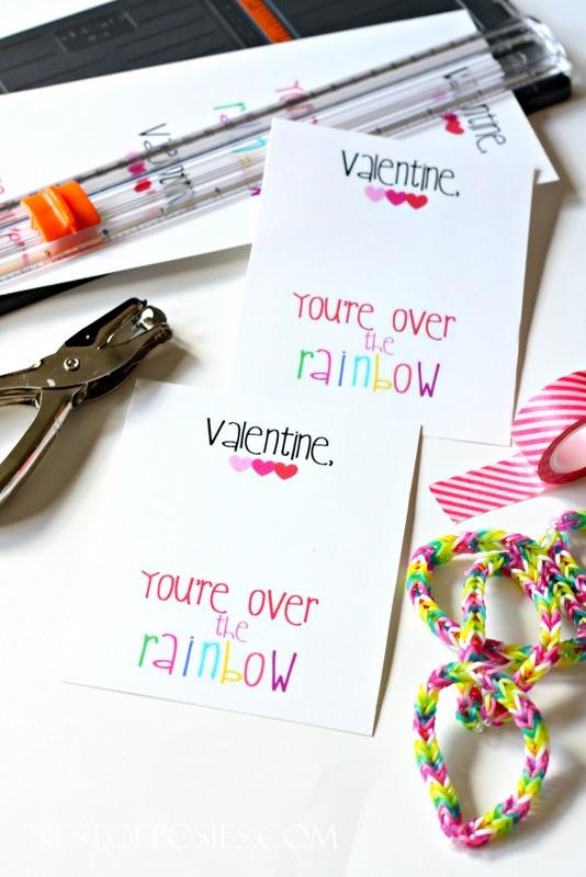 Rainbow Loom Valentine Bracelets