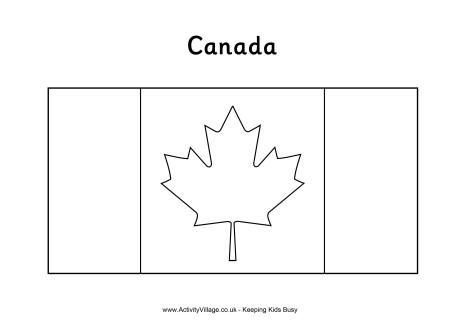 Canadian Flag Coloring Page