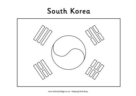 Olympic Flag Coloring Pages South Korea Coloring Pages