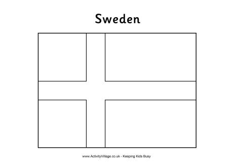 Sweden Flag Coloring Page