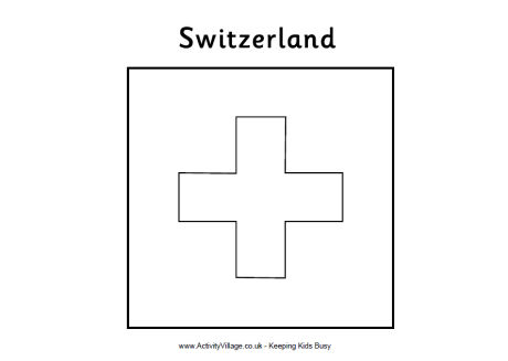 Switzerland Coloring Page