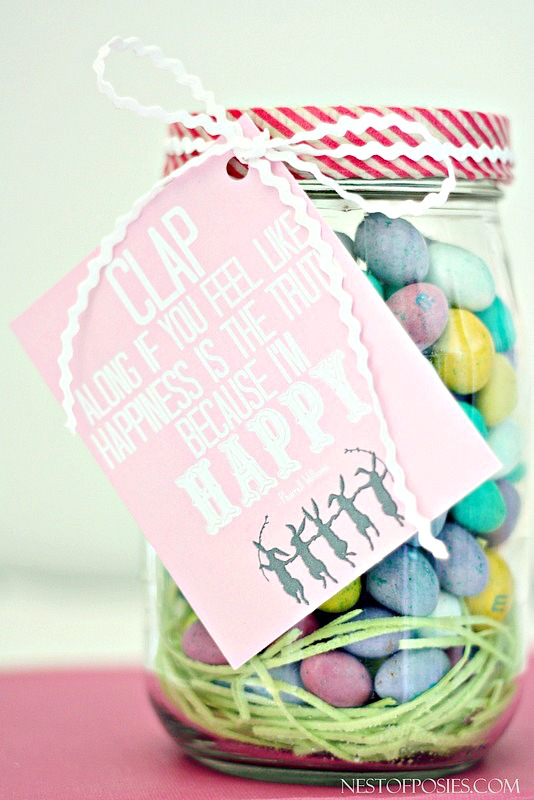 Because I'm Happy Free Printable Gift Tag