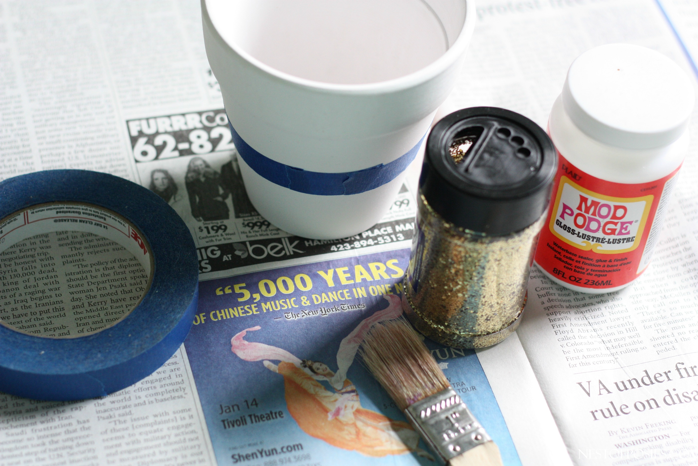 How to make a glitter pot