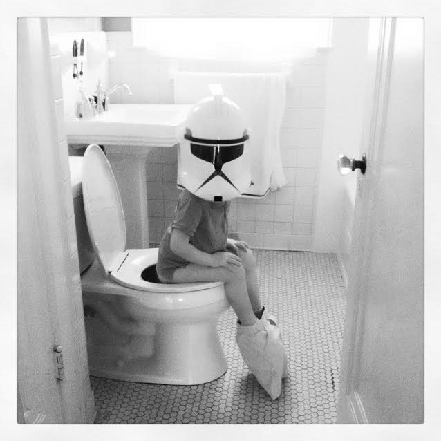 Even Storm Troopers have to go potty