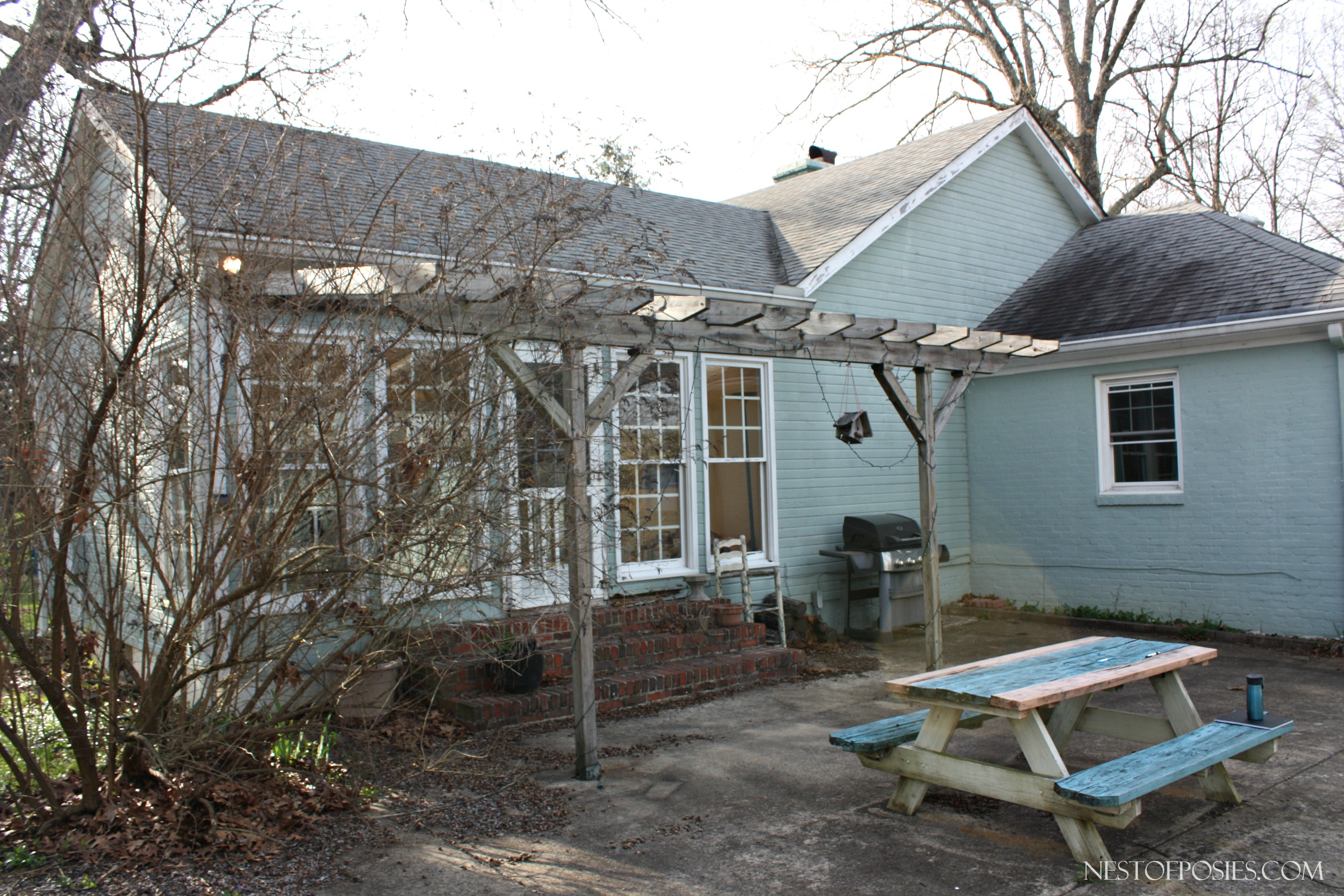 Side view of Sunroom and Master